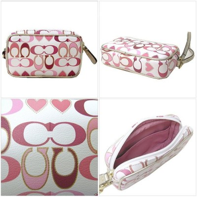 Ltd Ed Coach Peyton Signature Heart East West Multi Pouch